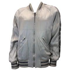 Iro Silver Sequin Zip Up Jacket