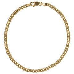 14K ah Gold Italian Link Bracelet