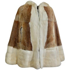 1960s Fur Hooded Cape