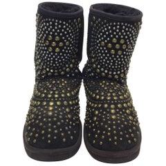 Ugg Jimmy Choo Studded Black Shearling Boots