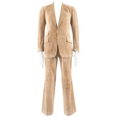 Gucci Men's suede two piece suit