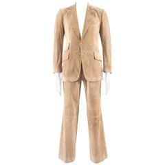 Gucci Men's suede two piece suit