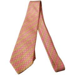 Hermes Paris Vintage Striped Men's Silk Necktie