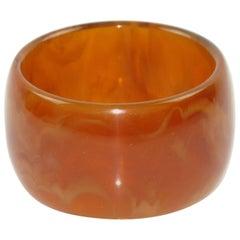 Bakelite Bracelet Bangle Red Tea Amber Marble