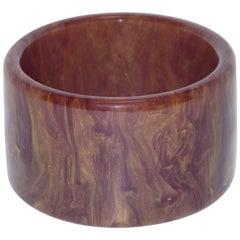 Bakelite Bracelet Bangle Purple Stardust Marble