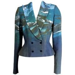 Alexander McQueen 1997 Runway Dolphin Print Jacket