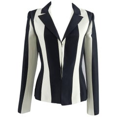 Lanvin resort 2013 Black and ivory Striped Blazer