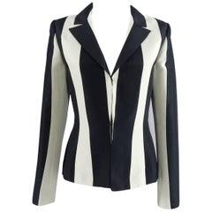 Lanvin resort 2013 Black and ivory Striped Blazer