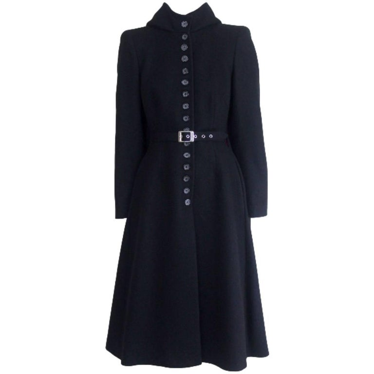 Alexander McQueen 1998 Joan Collection Runway Hooded Cape Back Coat 1