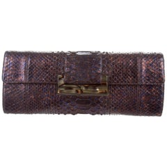 Judith Leiber New Python Envelope Evening 2 in 1 Clutch Shoulder Bag