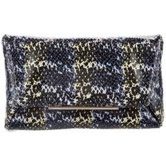 Lanvin New Multi Color Leather Envelope 2 in 1 Evening Clutch Shoulder Flap Bag