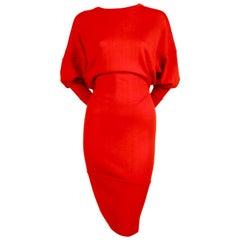 Azzedine Alaia red knit dress, 1980s