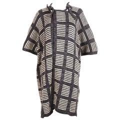 1970's ISSEY MIYAKE knit poncho cape coat