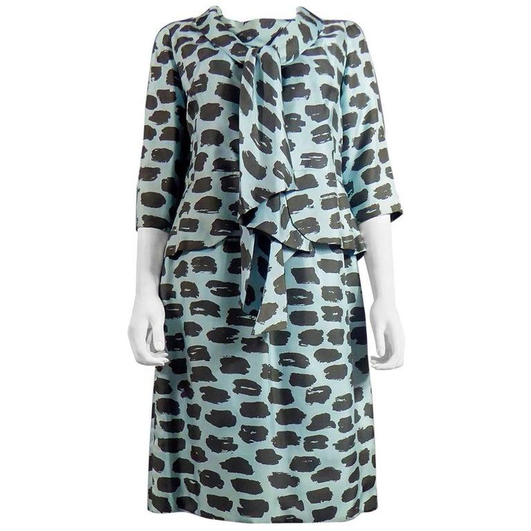 Haute Couture Lanvin Castillo Dress Silk Suit