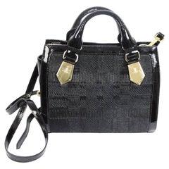 Vivienne Westwood vintage black gold leather pony skin shoulder bag made italy