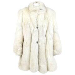 White Fox Fur Coat, 1980s