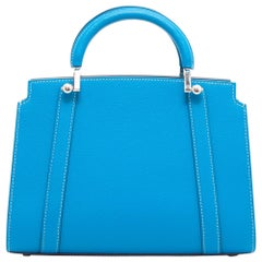 MOYNAT BB 'Ballerine' Bag in Blue Taurillon Leather