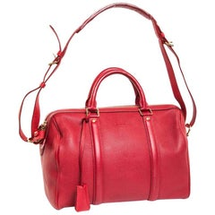 LOUIS VUITTON Bag in Cherry Soft Grained Calf Leather and Velvet Kid Leather