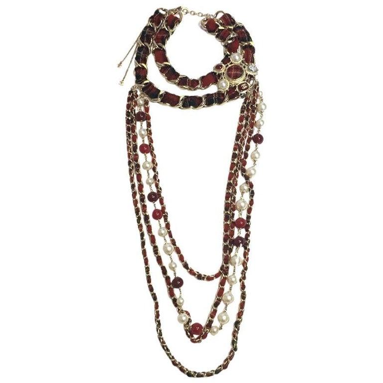 CHANEL Necklace from 'Paris-Edinburgh' Métiers d'Art Collection For Sale