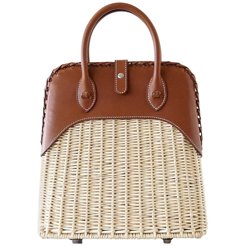 87baf7ee83 Hermes Bolide Picnic Bag Wicker Barenia Limited Edition