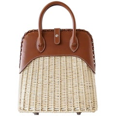 Hermes Bolide Picnic Bag Wicker Barenia Limited Edition