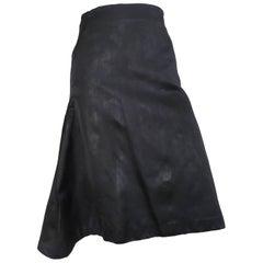 Alexander McQueen Navy Silk Skirt Size 6 / 44.