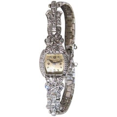 Luxurious 14K White Gold Diamond Hamilton Ladies wrist watch
