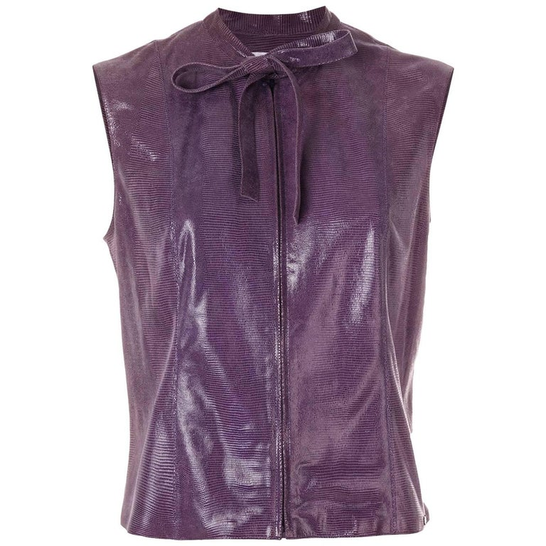 Chanel Goatskin Pussy Bow Top