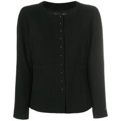 Chanel Black Wool Boxy Cardigan