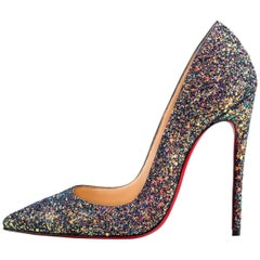 Christian Louboutin New Multi Glitter So Kate High Heels Pumps in Box