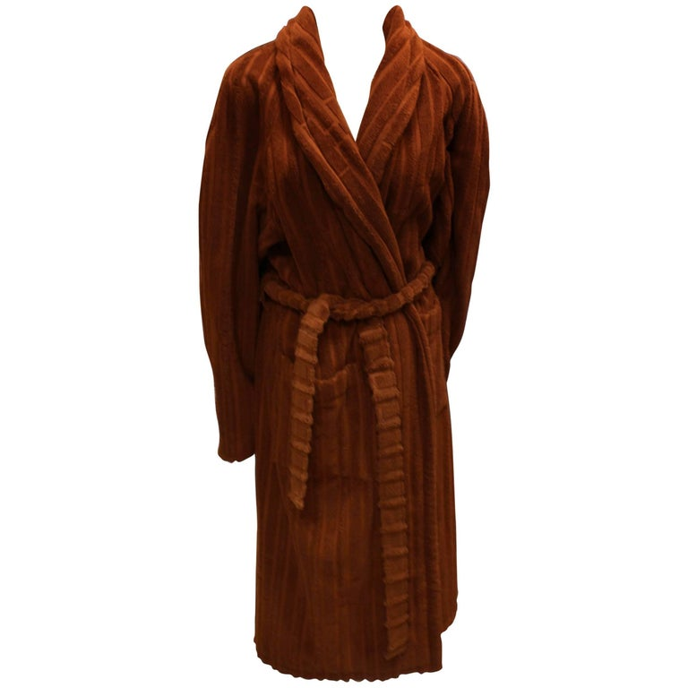Hermes New Never used Rust Color Bathrobe. S size at 1stdibs