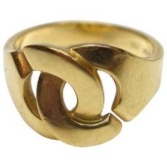 Dinh Van Paris 18K Yellow Gold  Menottes R12 Ring Size 54/55