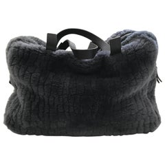 Brunello Cucinelli Pewter Grey Shearling Bag