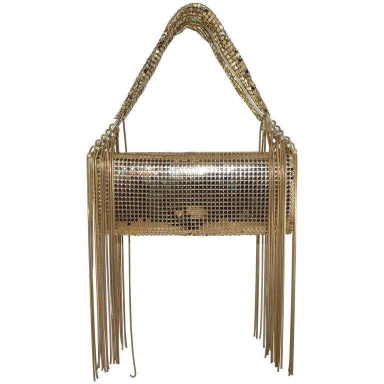 Givenchy Gold Metal Mesh Handbag
