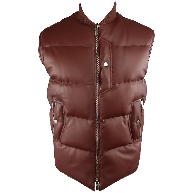 Men S Hermes 38 Burgundy Quilted Leather And Nylon
