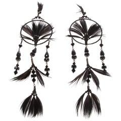 Valentino Garavani Black Dreamcatcher Earrings
