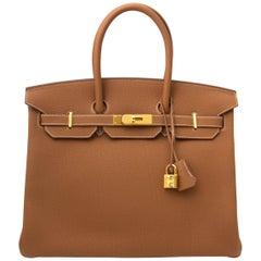 Hermès Birkin 35 Togo Gold GHW