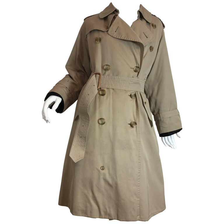 Burberry Double Breasted Trench with Fur Lining