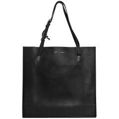 Celine Black Smooth Calfskin Triple Shopper Tote Bag with DB