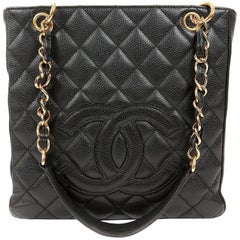 Chanel Black Caviar PST Petite Shopper
