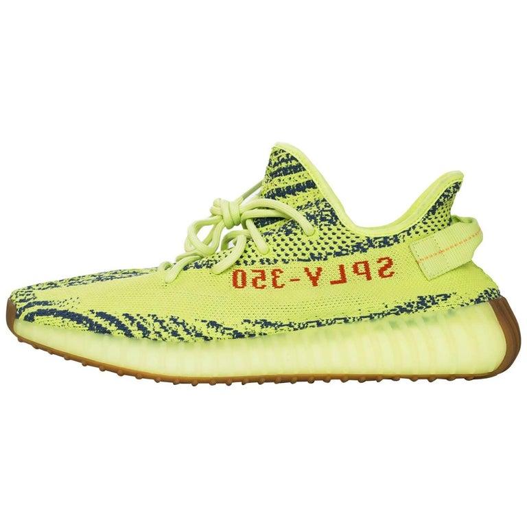 7916cda6cb99 Adidas x Kanye West Yeezy Boost 350 V2 Semi Frozen Yellow 2.0 Sneakers Sz  10 NIB For Sale at 1stdibs