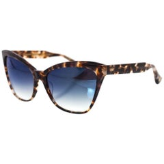 DITA Tokyo Tortoise & Blue Mirror Superstition Cat Eye Sunglasses NEW
