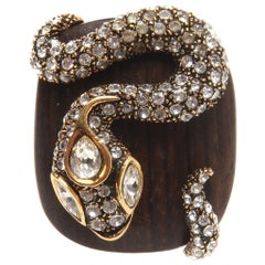 Roberto Cavalli Wooden Crystal Serpent Ring