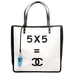 Chanel 5 x 5 + CC Canvas Tote Shopper