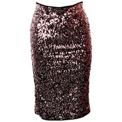 Karl Lagerfeld Gunmetal Sequin Skirt
