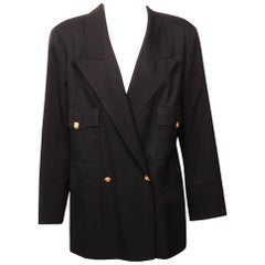 Chanel Black Double Breasted Blazer