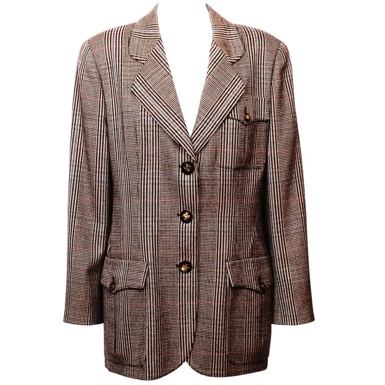 Chanel Prince of Wales Checked Jacket