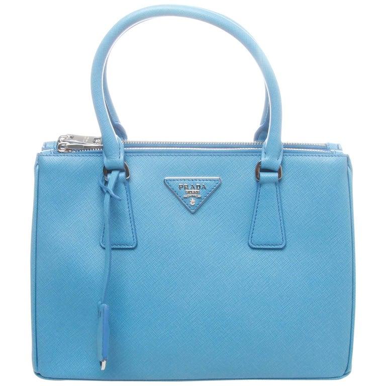 b7446419198 Prada Sea Blue 28cm Saffiano Lux Galleria Shopping Bag at 1stdibs