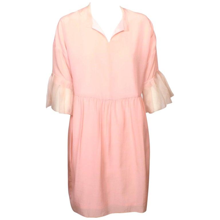 Valentino Pink Silk Georgette Dress
