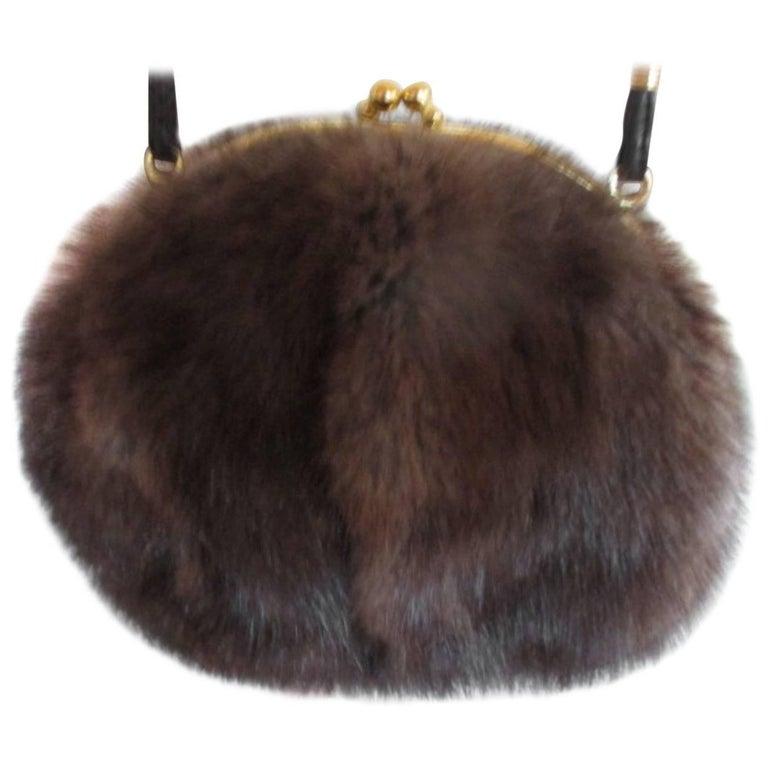 sable fur muff crossbag